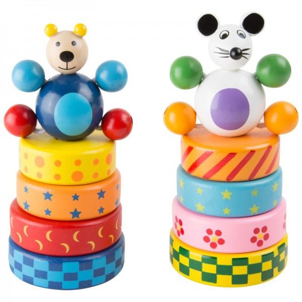 Stapelspiel Steck-Maus und -Bär
