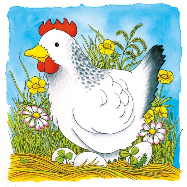 Goki, Schichtenpuzzle aus Holz, Das Huhn