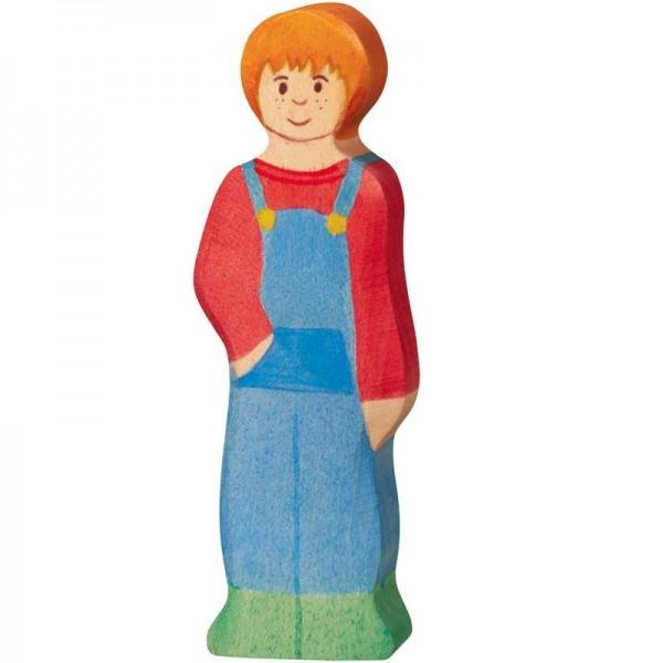 Holztiger Spielfigur Sohn, Bauernhof