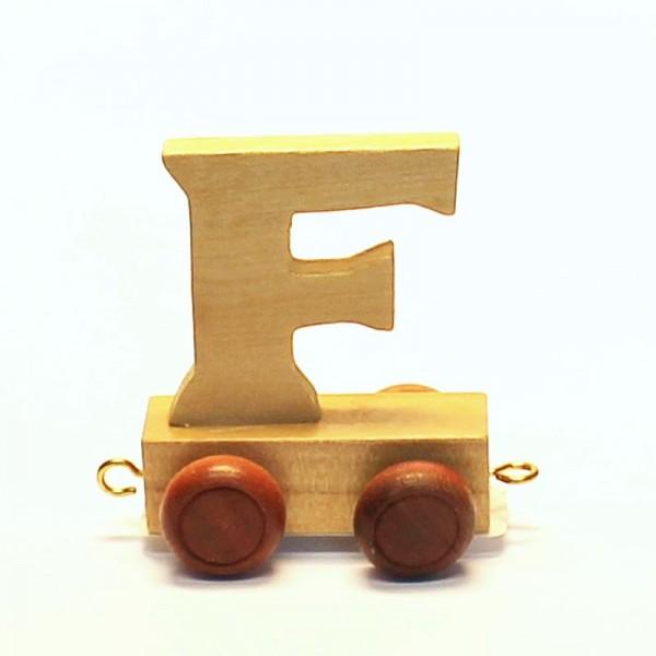 Buchstabenzug Buchstabe F, Holz