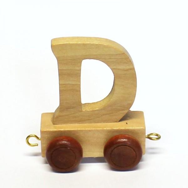 Buchstabenzug Buchstabe D, Holz