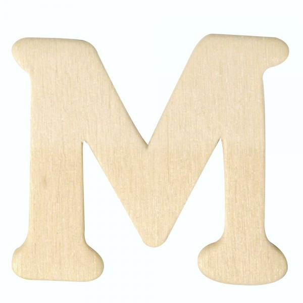 Holz-Buchstabe M, 4 cm