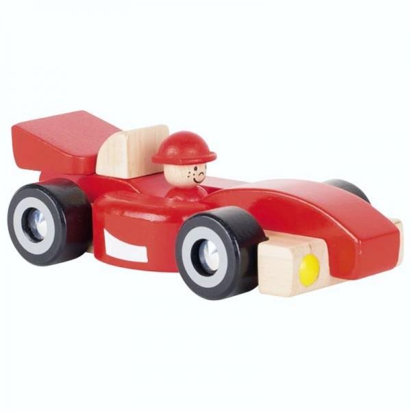 roter Rennwagen, Holzspielzeugauto