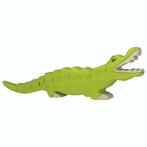 Holztiger Spielfigur Krokodil