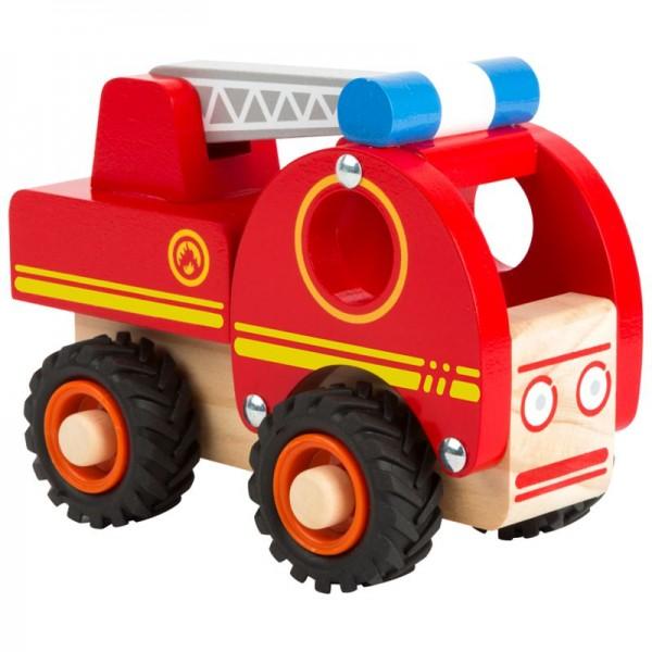 Feuerwehrfahrzeug, Holzspielzeugauto für Kinder ab 18 Monate