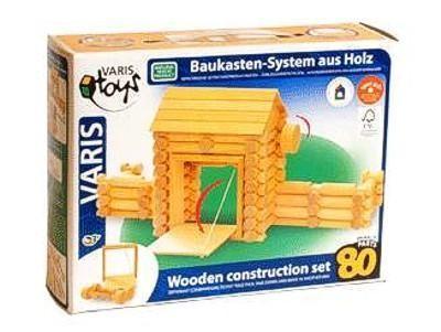 VARIS Toys Holzbaukasten Fort 80 Teile