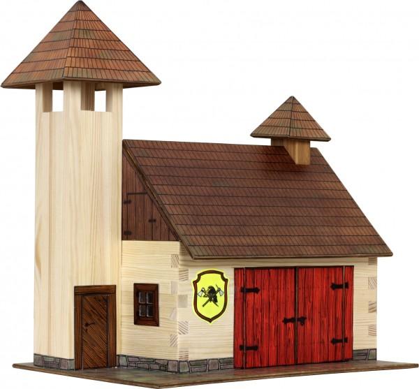 Walachia Holzbausatz Feuerwehrhaus
