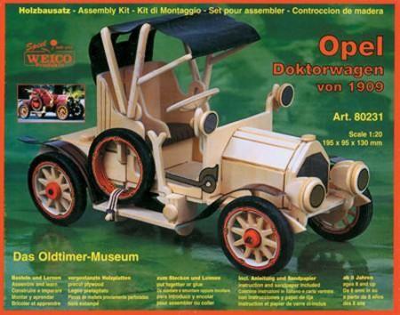 Holzbausatz Opel-Doktorwagen von 1909