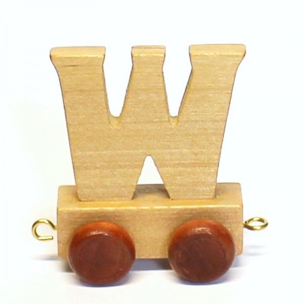 Buchstabenzug Buchstabe W, Holz