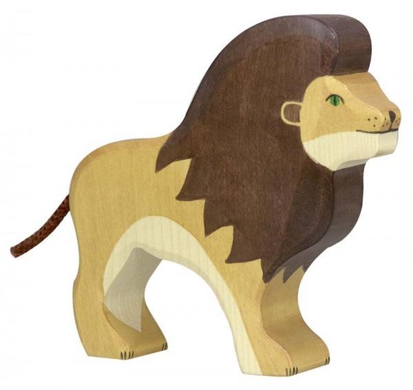 Holztiger Spielfigur Löwe