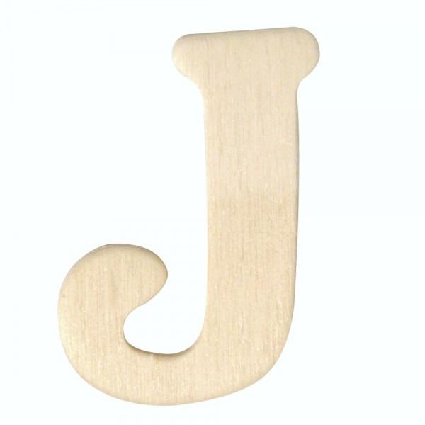 Holz-Buchstabe J, 4 cm