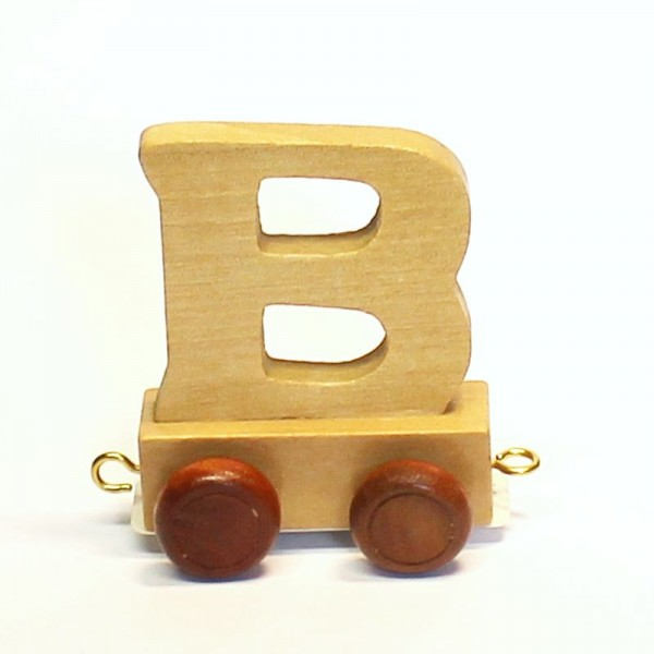 Buchstabenzug Buchstabe B, Holz