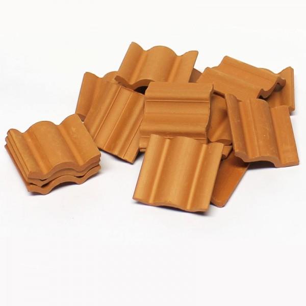 Dachpfanne, Dachziegel aus Ton, 25 Stk. Modellbauzubehör