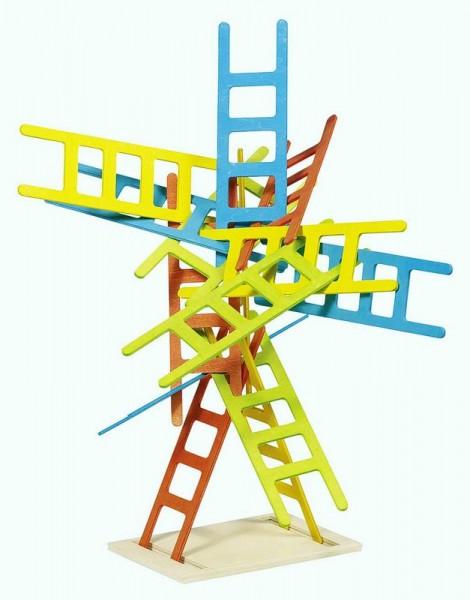 Balancier- und Stapelspiel Leitern, 21 Teile aus Holz