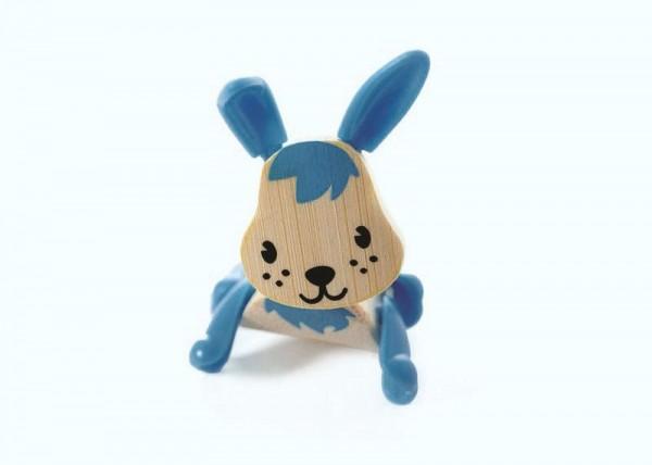 Tierfigur Kaninchen, aus Bambus und Kunststoff