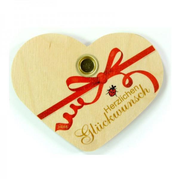 """Geburtstagsherz aus Holz """"Herzlichen Glückwunsch"""""""
