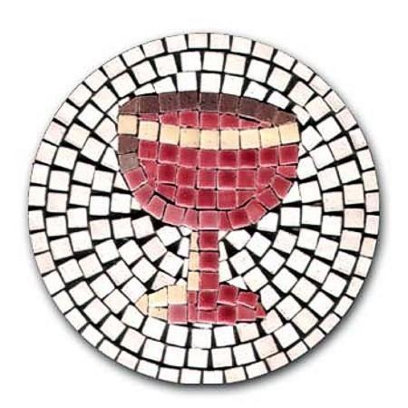 Mosaic Bausatz Weinglas mit Magnetfolie