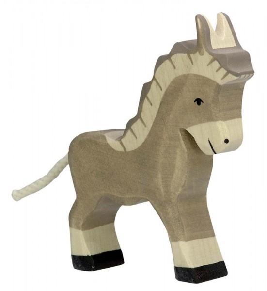 Holztiger Spielfigur Esel, klein