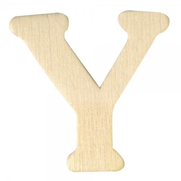 Holz-Buchstabe Y, 4 cm