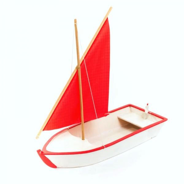 Segelboot Jolly, Schiffbausatz aus Holz