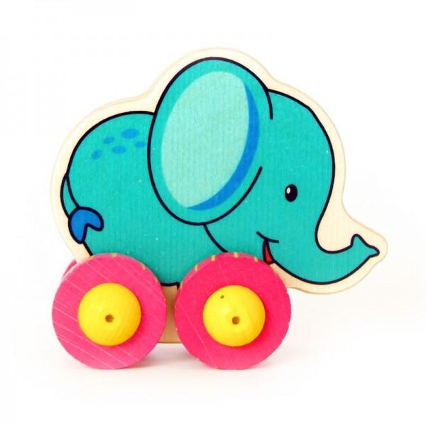 Hess Holzspielzeug Rolli Elefant