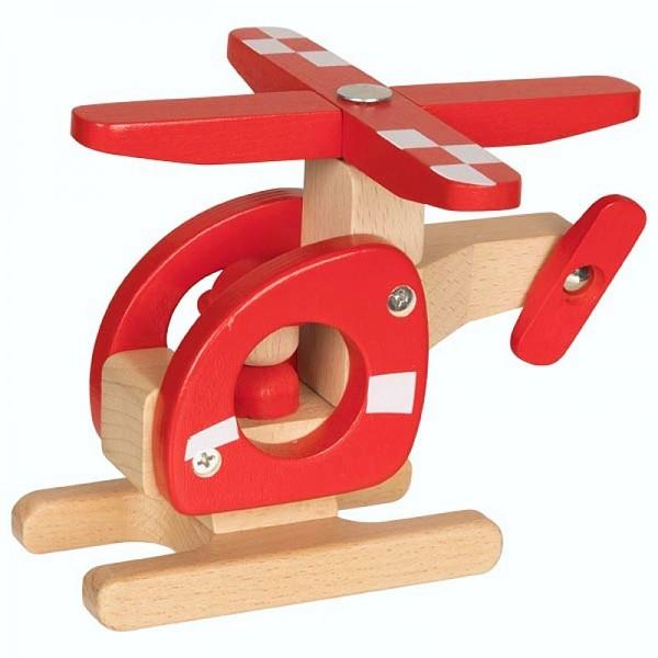 Helikopter, Spielzeughubschrauber aus Holz