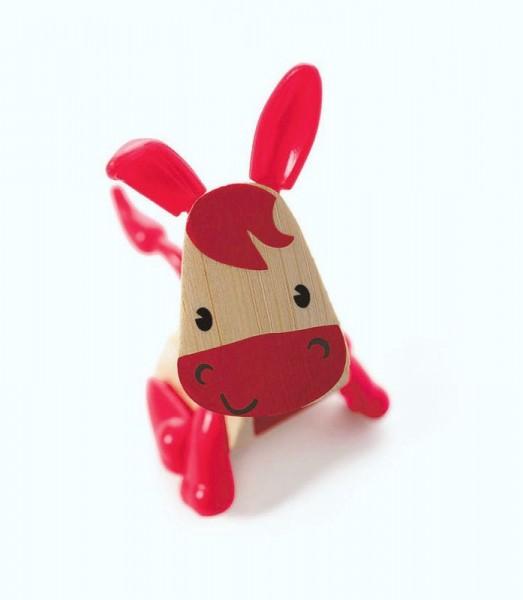Tierfigur Esel, aus Bambus und Kunststoff