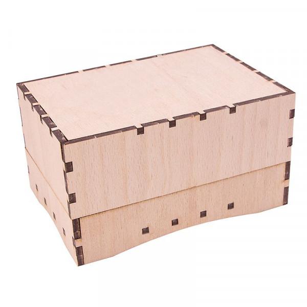 Holzbausatz Basteltruhe - Geschenkbox Blanco