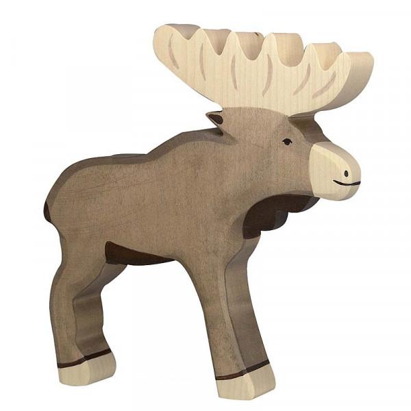 Holztiger Spielfigur Elch
