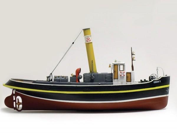 Standmodell Schiffbausatz Hafenschlepper LIMAN 2, M 1: 50