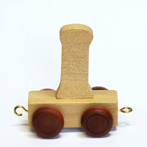Buchstabenzug Buchstabe I, Holz