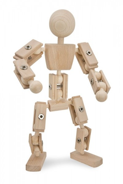 Basisfigur, Actionfigur Helden aus Holz, natur