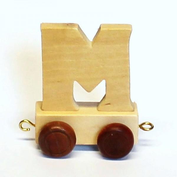 Buchstabenzug Buchstabe M, Holz