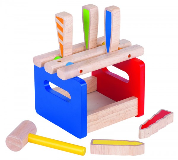 Goki Hammerbank 6 Teile, Holz