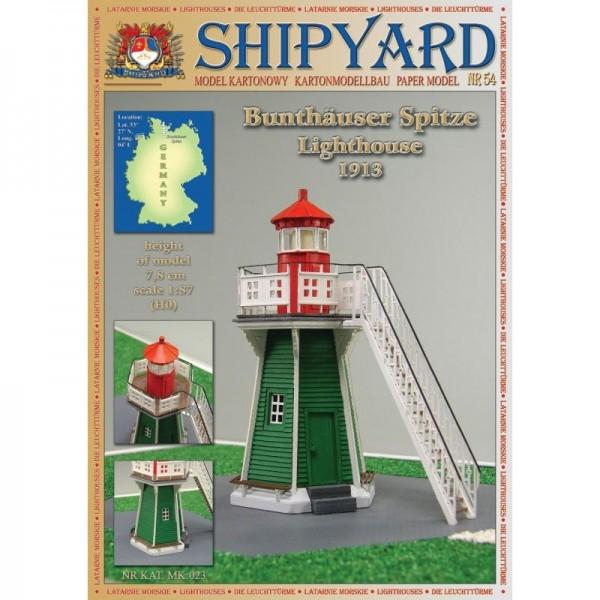 Modellbaubogen Bunthauser Spitze Leuchtturm Maßstab 1:87 (H0)