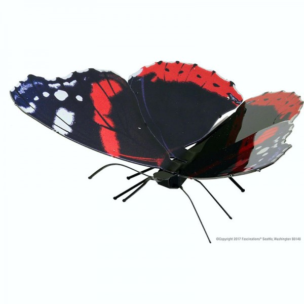 Metal Earth Bausatz Schmetterling Butterfly Red Admiral