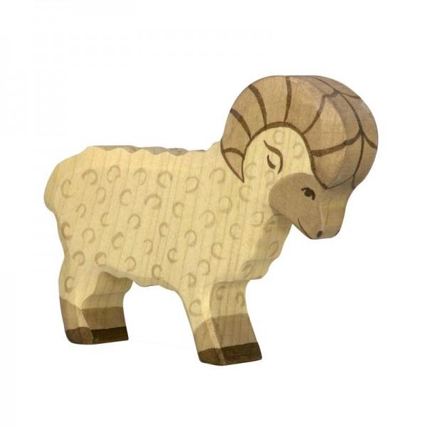 Holztiger Spielfigur Schaf - Widder
