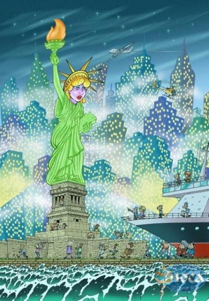 Moca Puzzle Miss Liberty 500 Puzzle
