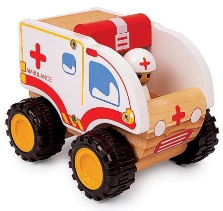 Holzspielzeug Ambulanz, Krankenwagen