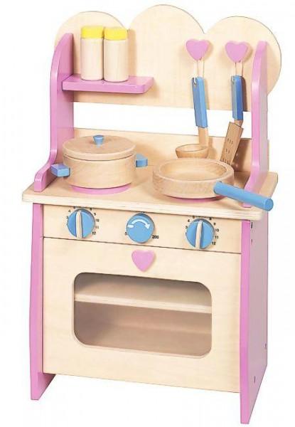 Spielküche, Kinderküche aus Holz, mit Zubehör