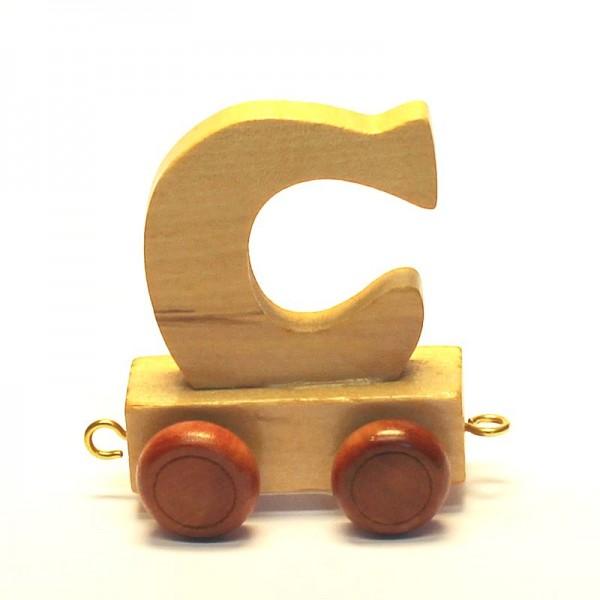 Buchstabenzug Buchstabe C, Holz