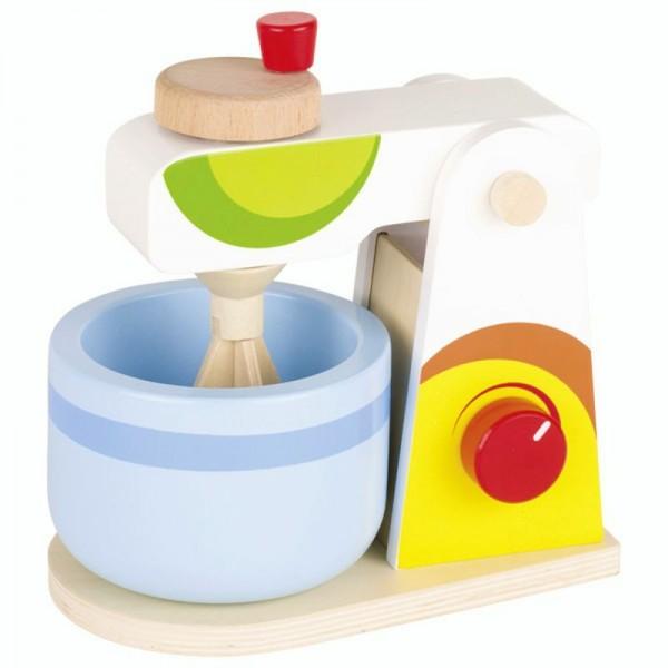 Mixer für die Kinderküche, aus Holz, mit Rührschüssel