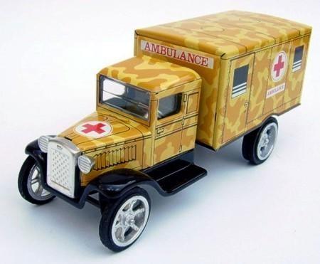 Blechspielzeug Hawkeye Ambulanz, Tarnfarbe
