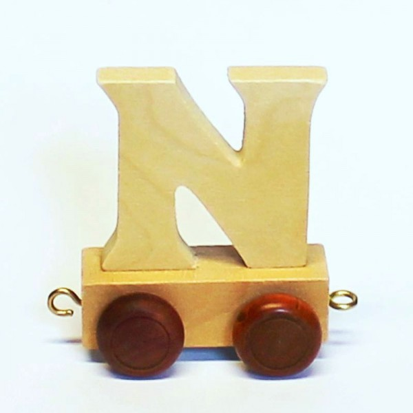 Buchstabenzug Buchstabe N, Holz