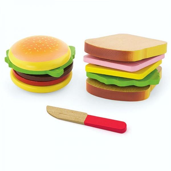 Schneidespielzeug Burger und Sandwich