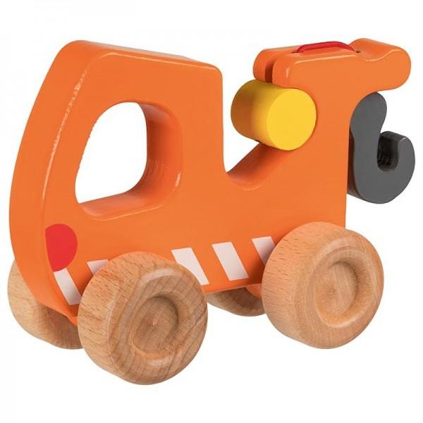 Schiebefahrzeug Abschleppwagen, ab 2 Jahre, Holz