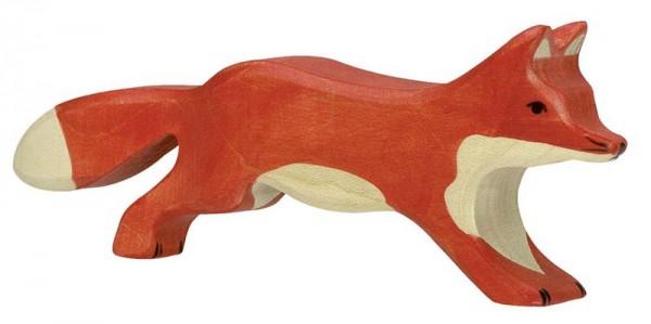 Holztiger Spielfigur Fuchs, laufend