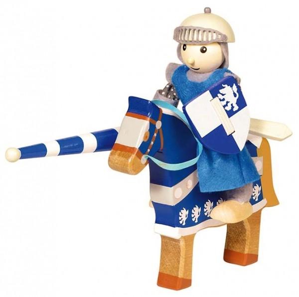 Goki, Biegepuppe Ritter Lancelod mit Pferd und Zubehör