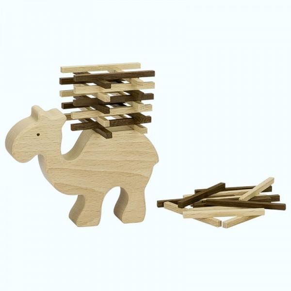 Stapelspiel Kamel, goki nature, 60 Teile aus Holz