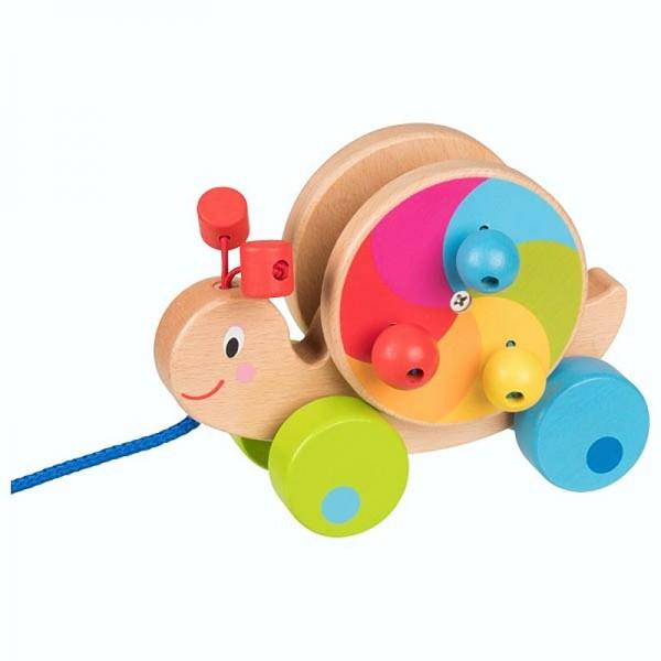 Ziehtier Schnecke, ab 1 Jahr, Holzspielzeug